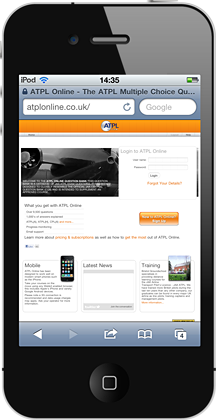 ATPL Online on the iPhone