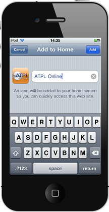 ATPL Online on the iPhone - name shortcut